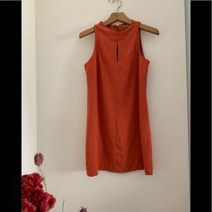 Mini A-line burnt orange dress